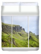 The Quiraing Triptych Duvet Cover by Chris Thaxter