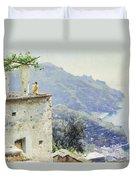 The Ravello Coastline Duvet Cover by Peder Monsted