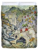 The Ravine Of The Peyroulets Duvet Cover by Vincent van Gogh