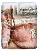 The Reading Phillies Duvet Cover by Trish Tritz