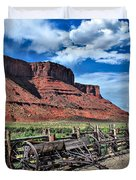 The Red Cliffs Duvet Cover by Gregory Ballos
