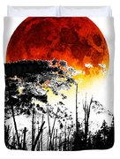 The Red Moon - Landscape Art By Sharon Cummings Duvet Cover by Sharon Cummings