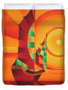 The Red Sea Duvet Cover by Tracey Harrington-Simpson