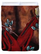 The Red Shoes Duvet Cover by Barbara St Jean