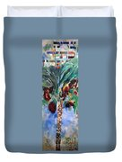 The Righteous Will Flourish Like The Date Palm Tree Duvet Cover by David Baruch Wolk
