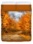 The Road Less Traveled Duvet Cover by Jon Burch Photography