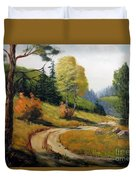 The Road Not Taken Duvet Cover by Lee Piper