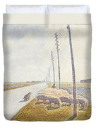 The Road To Nieuport Duvet Cover by Willy Finch