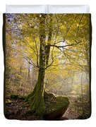 The Rock Tree Duvet Cover by Sophie De Roumanie