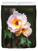 The Rose With Your Name. Park Of De Haar Castle Duvet Cover by Jenny Rainbow