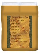 The Saint Francis Prayer Duvet Cover by Philip Ralley