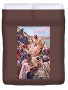 The Sermon On The Mount Duvet Cover by Harold Copping
