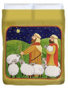 The Shepherds Duvet Cover by Linda Benton