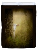 The Shy Lamb Duvet Cover by Loriental Photography