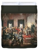 The Signing Of The Constitution Of The United States In 1787 Duvet Cover by Howard Chandler Christy