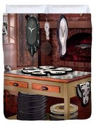 The Soft Clock Shop Duvet Cover by Mike McGlothlen