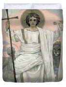The Son Of God   The Word Of God Duvet Cover by Victor Mikhailovich Vasnetsov
