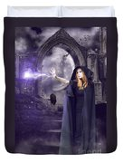 The Spell Is Cast Duvet Cover by Linda Lees