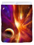 The Spirit Realm Of The Saphire Nebula Duvet Cover by James Christopher Hill