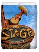 The Stage On Broadway Duvet Cover by Dan Sproul