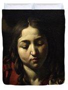 The Supper At Emmaus Duvet Cover by Michelangelo Merisi da Caravaggio