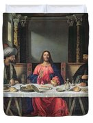 The Supper at Emmaus Duvet Cover by Vittore Carpaccio