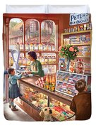 The Sweetshop Duvet Cover by Steve Crisp