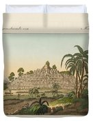 The temple of Buddha of Borobudur in Java Duvet Cover by Splendid Art Prints