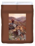 The Temptation Of Christ Duvet Cover by Harold Copping