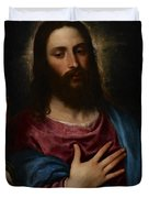 The Temptation Of Christ Duvet Cover by Titian