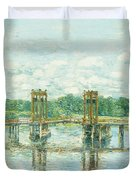 The Toll Bridge New Hampshire Duvet Cover by Childe Hassam