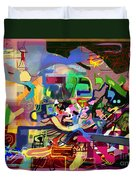 the Torah is aquired with awe 5 Duvet Cover by David Baruch Wolk