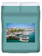 The Town And Port Of La Rochelle Duvet Cover by Nila Newsom
