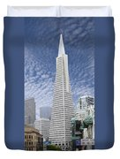 The Transamerica Pyramid - San Francisco Duvet Cover by Mike McGlothlen