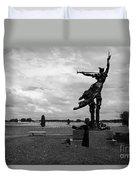 The Trumpet Sounds At Gettysburg Duvet Cover by James Brunker