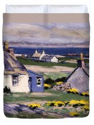 The Two Crofts Duvet Cover by Francis Campbell Boileau Cadell