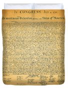 The United States Declaration of Independence - square Duvet Cover by Wingsdomain Art and Photography