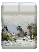 The Versailles Road At Louveciennes Duvet Cover by Camille Pissarro