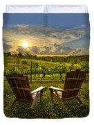 The Vineyard   Duvet Cover by Debra and Dave Vanderlaan