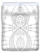 The Visitor Duvet Cover by DB Artist
