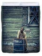 The Walking Dead Duvet Cover by Edward Fielding