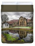 The Welsh Abbey Duvet Cover by Adrian Evans
