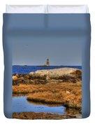 The Whaleback Lighthouse Duvet Cover by Joann Vitali