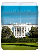 The White House Duvet Cover by Greg Fortier