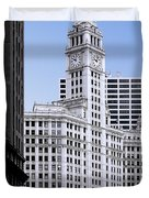 The Wrigley - A Building That Is Pure Chicago Duvet Cover by Christine Till