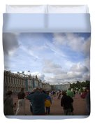 They Come To Catherine Palace - St. Petersburg - Russia Duvet Cover by Madeline Ellis