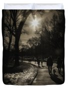 They Come To Central Park Duvet Cover by Madeline Ellis
