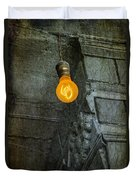 Thomas Edison Lightbulb Duvet Cover by Susan Candelario