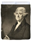 Thomas Jefferson Duvet Cover by American School