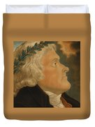 Thomas Jefferson Duvet Cover by Michael Sokolnicki